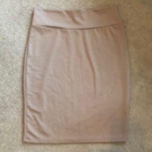 LulaRoe Beige Pencil Skirt 2XL never worn.